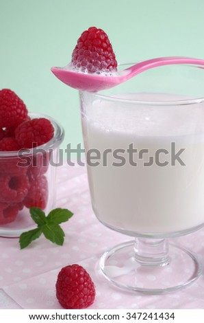 raspberry and milk