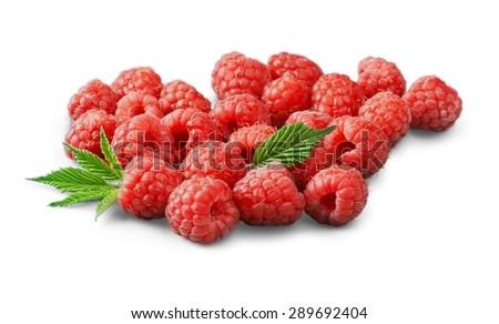 Raspberry, Fruit, Isolated. - stock photo