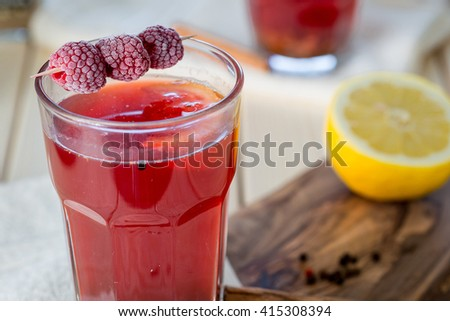 Raspberry Hot Tea with Cinnamon, Coriander, Lemon and Honey, Delicious and Healthy