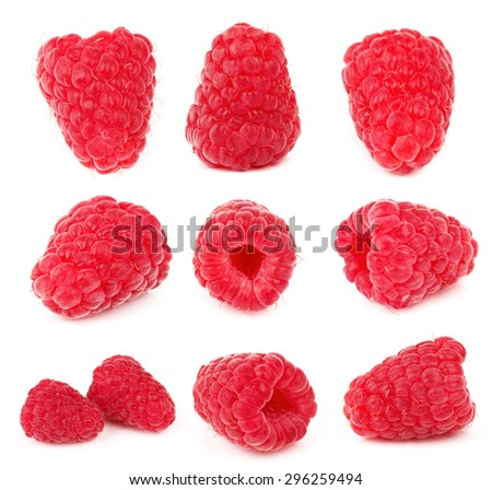 Raspberry isolated on a white background - stock photo