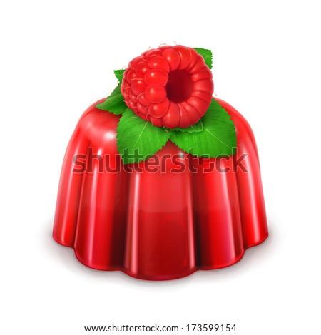 Raspberry jelly, bitmap copy - stock photo