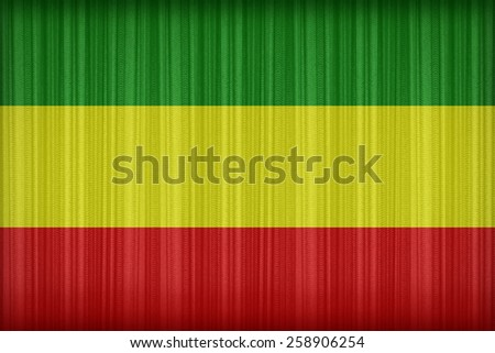Rasta flag pattern on the fabric curtain,vintage style - stock photo
