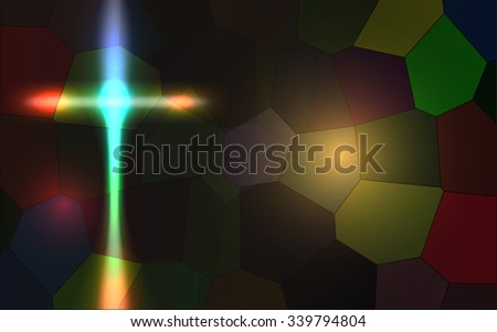 Raster Abstract Religious Background - stock photo