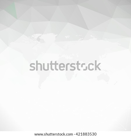 Raster black and white World Map background - stock photo