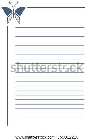 Vector Blank Letter Greeting Card Simple Stock Vector