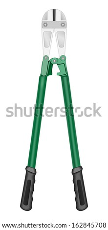 Raster Bolt Cutting Tool On White Background - stock photo