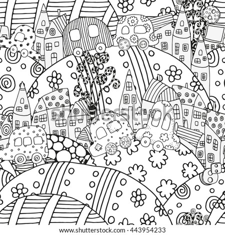 Coloring Book Page For Adult And Children Pattern With