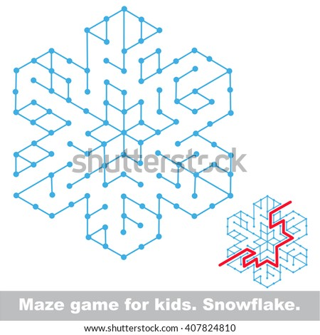 Raster copy. Maze game. Search the way. Help to find the solution. Kid labyrinth game.  - stock photo