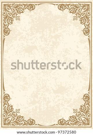 Raster copy of elegant vintage background. - stock photo