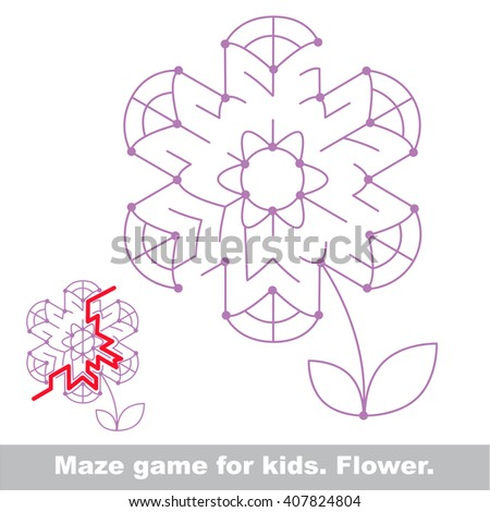Raster copy. Summer maze game. Search the way. Help to find the solution. Kid labyrinth game. - stock photo