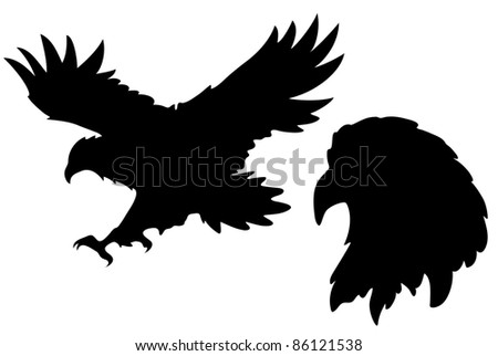 raster - eagle silhouettes illustration (vector version is available in my portfolio)