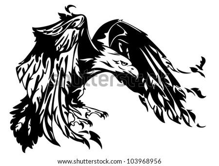 raster flying eagle illustration swooping bird stock illustration 103968956 shutterstock. Black Bedroom Furniture Sets. Home Design Ideas