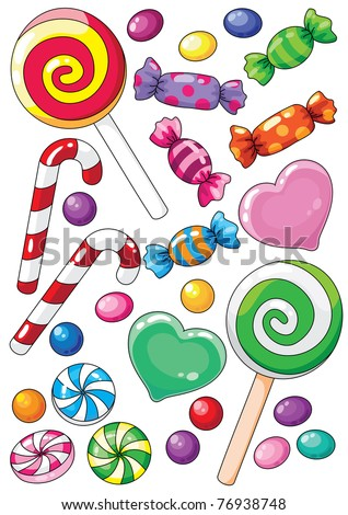raster illustration of a beautiful sweets
