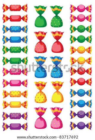 raster illustration of a funny sweets candy - stock photo