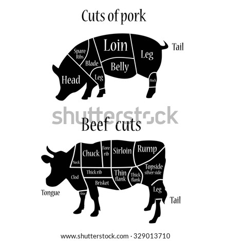 Stock Illustration Chicken Meat Cuts Diagram Farm Food Bird Animal Breast Leg Wing Back Vector Illustration Image57479504 furthermore Beef cuts besides Pork likewise Pig Meat Cuts Diagram besides 156284 Free Duck Cuts Vector Background. on pork cuts diagram