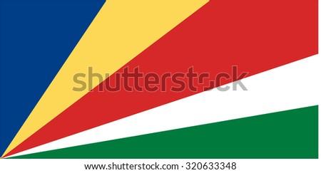 raster illustration of seychelles flag.  Rectangular national flag of  seychelles.  - stock photo