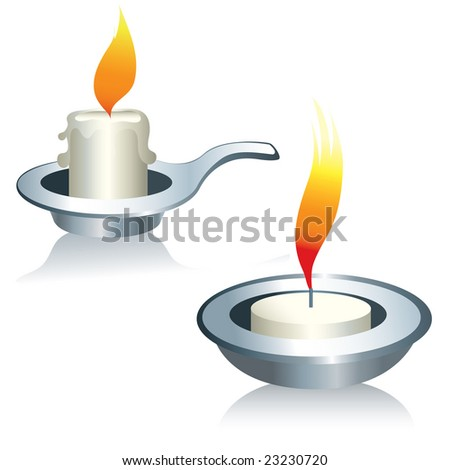 RASTER Illustration of two candles