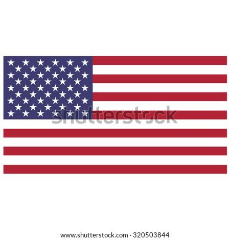 raster illustration of usa flag. Rectangular national flag of usa. Flag of United States of America.  Independence day - stock photo