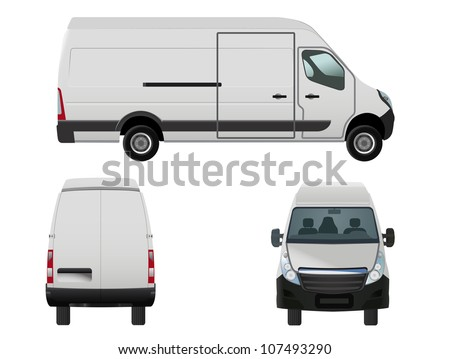 raster illustration of van to put your own design on, eps 8 file, vector version available - stock photo