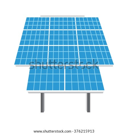 Raster illustration solar panel icon. Photovoltaic electric solar panel. Renewable energy. Ecology energy