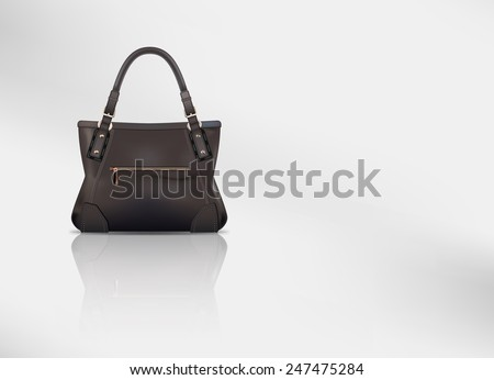 Raster Leather Handbag With Copy Space - stock photo