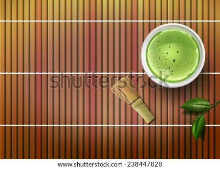 Raster Matcha Tea Concept - stock photo