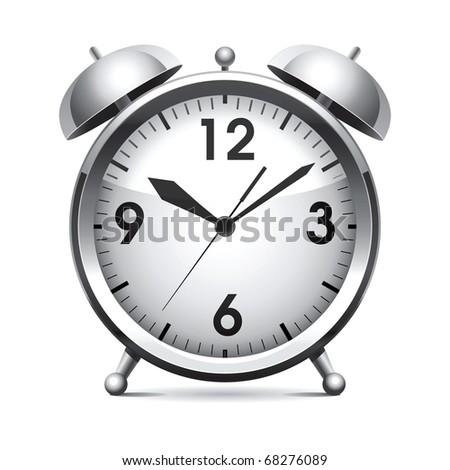 Raster metal alarm clock. - stock photo