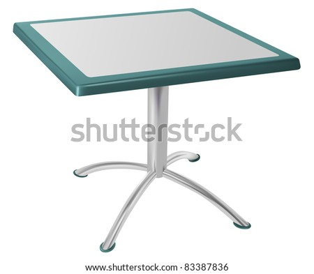 raster metallic table isolated on white background, vector version available - stock photo