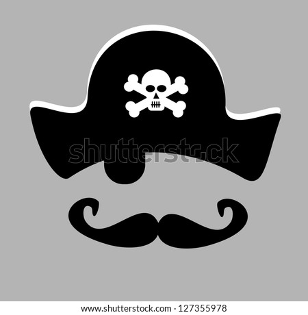 Pirate Eye Patch Stock Vector 127355972 - Shutterstock