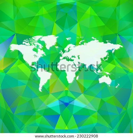 Raster polygon world map background. Can be used as website background or for presintatio - stock photo