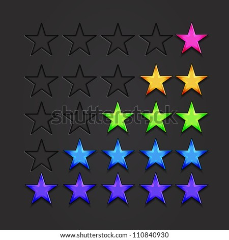 Raster rating stars - stock photo