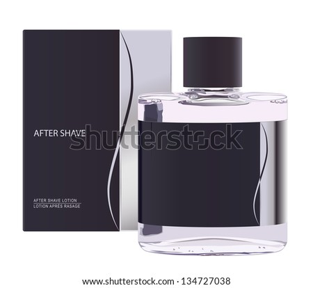 raster realistic after shave lotion, vector version available - stock photo