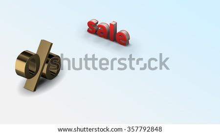 Raster Sale Concept illustration - stock photo