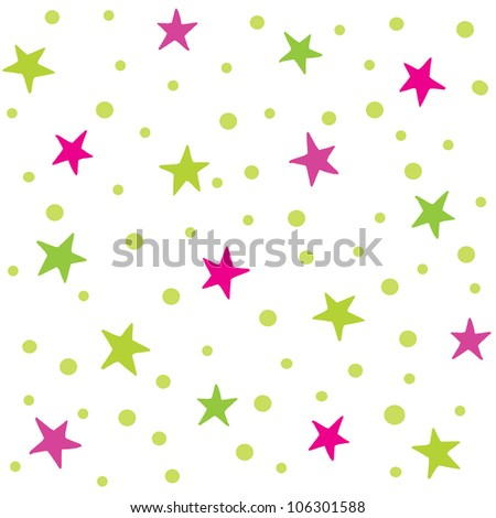 Raster seamless background pattern with stars. Suitable for textiles, scrap-booking, greeting cards, gift wrapping paper and wallpapers. See my portfolio for vector version. - stock photo