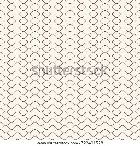 Raster seamless pattern, thin wavy lines. Texture of mesh, fishnet, lace, weaving, subtle lattice. Simple monochrome geometric background. Design for prints, decor, fabric, textile, covers, digital
