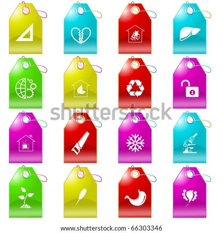Raster set of tags