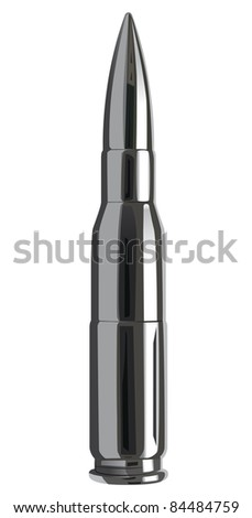 raster silver bullet, vector version available - stock photo
