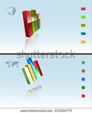 Raster Two Infographic Backgrounds - stock photo