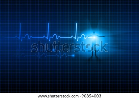 Raster version. Abstract  glowing background. For your design. - stock photo