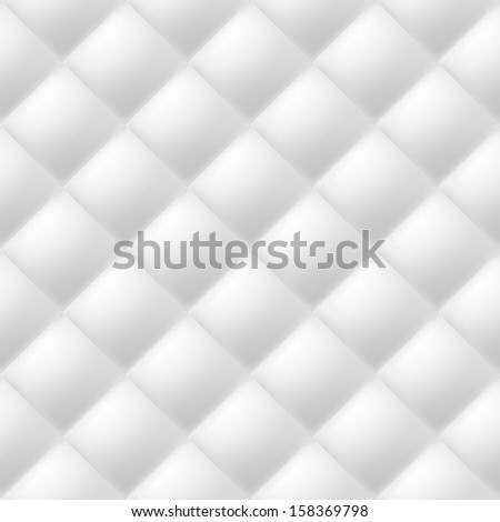 Raster version. Abstract soft textured background with squares in white. Close-up view.  - stock photo