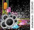 Raster  version. Background Music. - stock vector