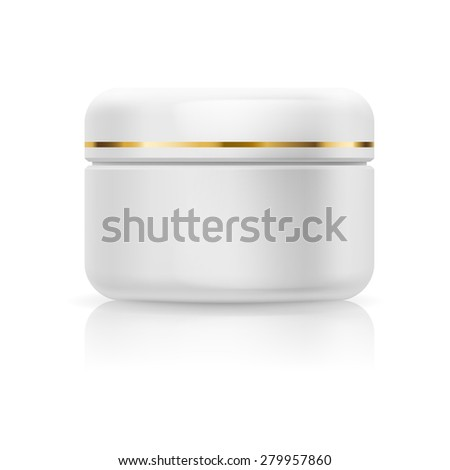 Raster version. Bank white cream isolated on a white background