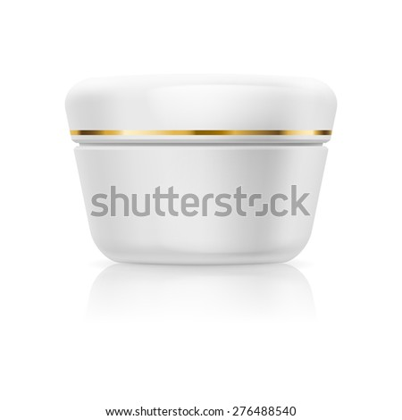 Raster version. Bank white cream or gel isolated on a white background