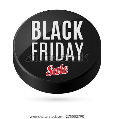 Raster version. Black Friday button discounts, increasing consumer growth - stock photo