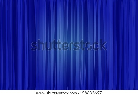 raster version blue curtain