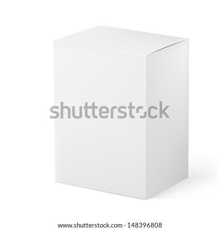 Raster version. Box. Illustration on white background for design - stock photo