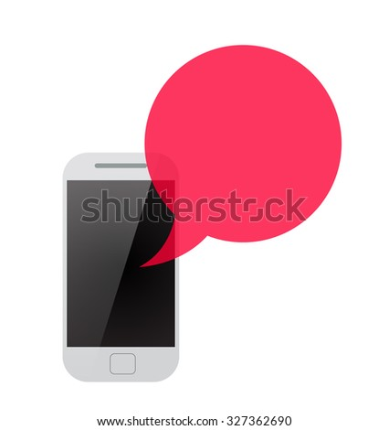 Raster version. concept of online communion, voicemail and chat application. isolated on white background. flat style trendy modern logo design  illustration - stock photo