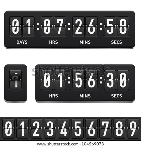 Raster version. Countdown timer. Illustration on white background for design