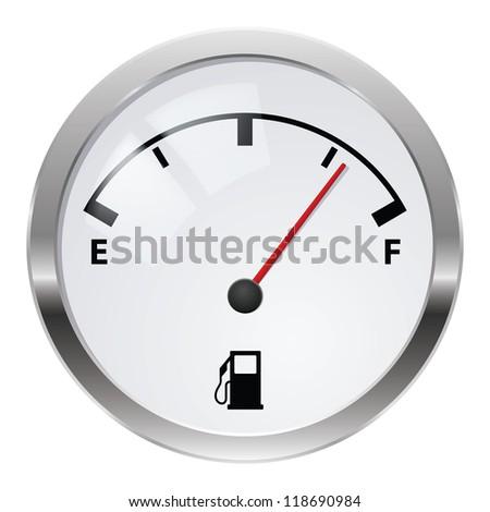 Raster version. Fuel indicator. Illustration on white background for design - stock photo