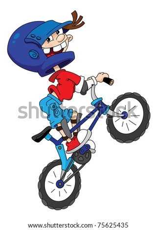 raster version illustration of a bicyclist